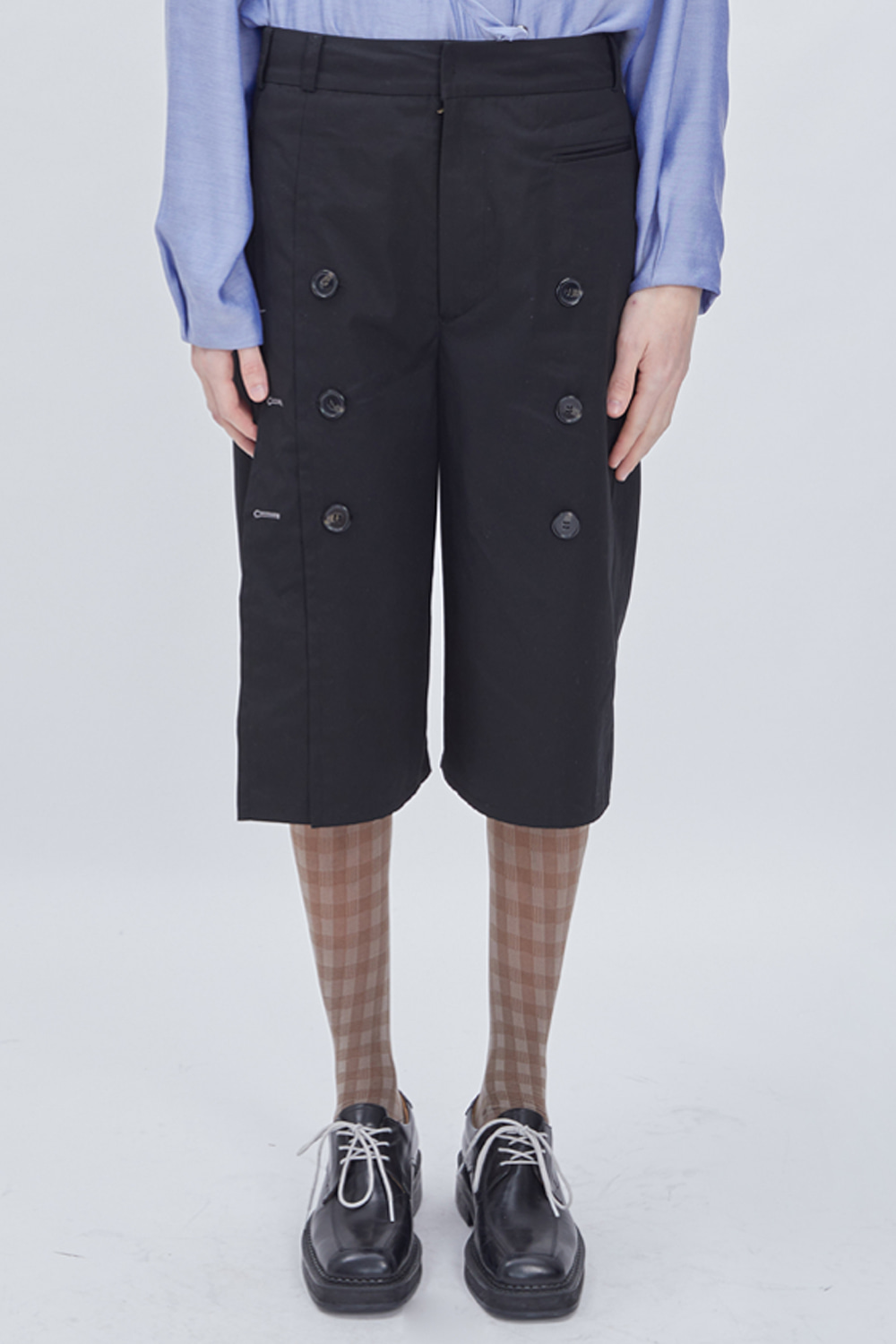 TRENCH ANKLE PANTS (BLACK)