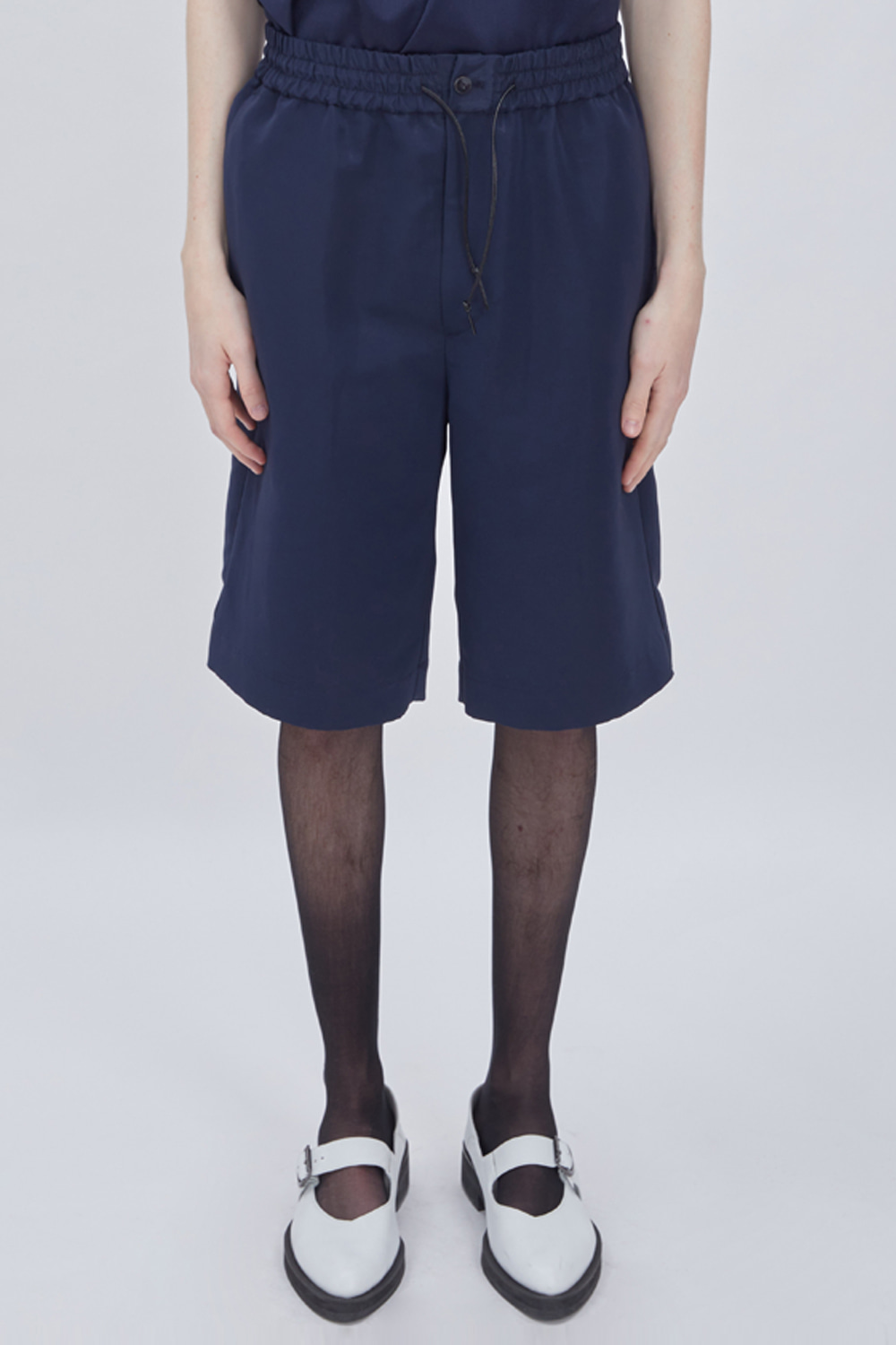 OVERSIZED HALF PANTS (NAVY)