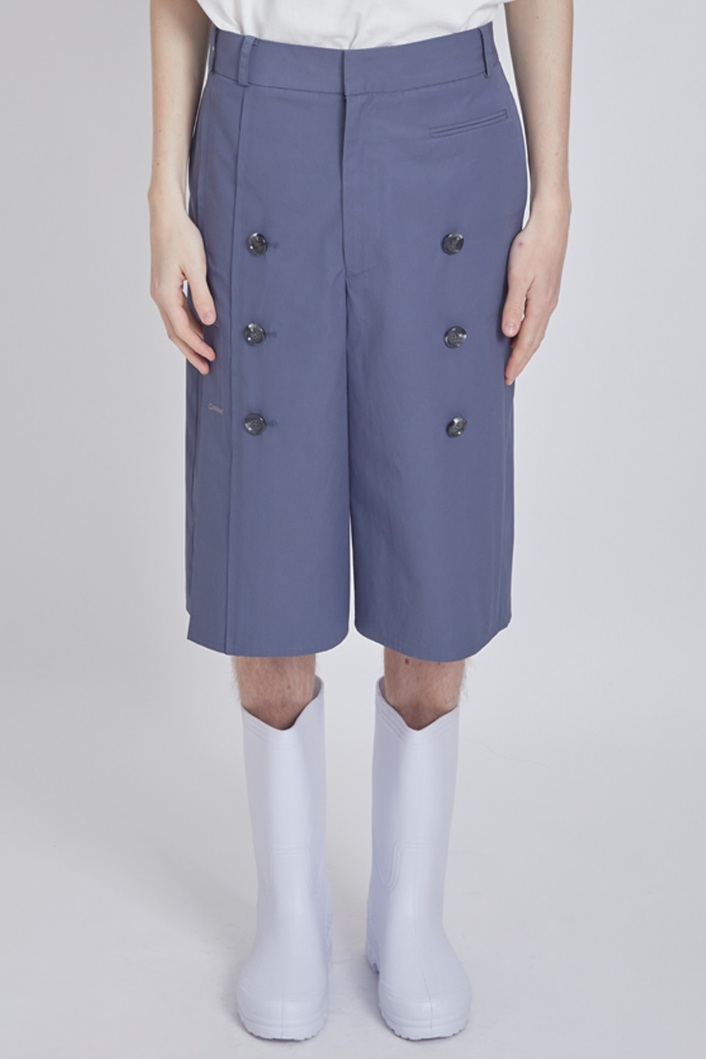 TRENCH ANKLE PANTS (SLATE BLUE)