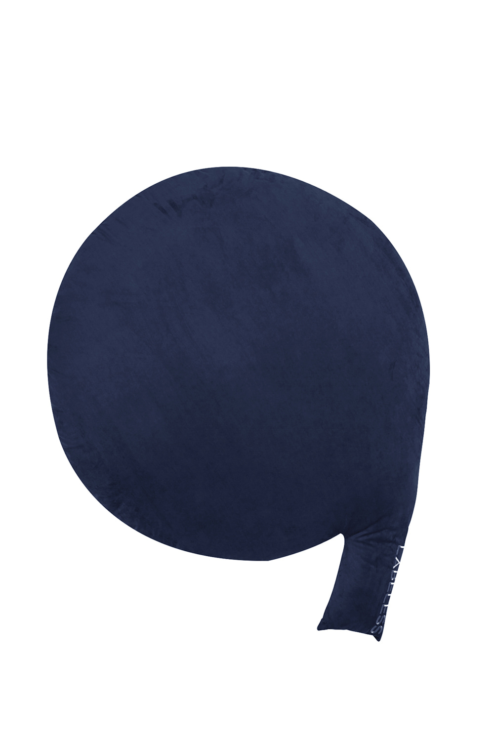 NAVY SUEDE COMMA CUSHION