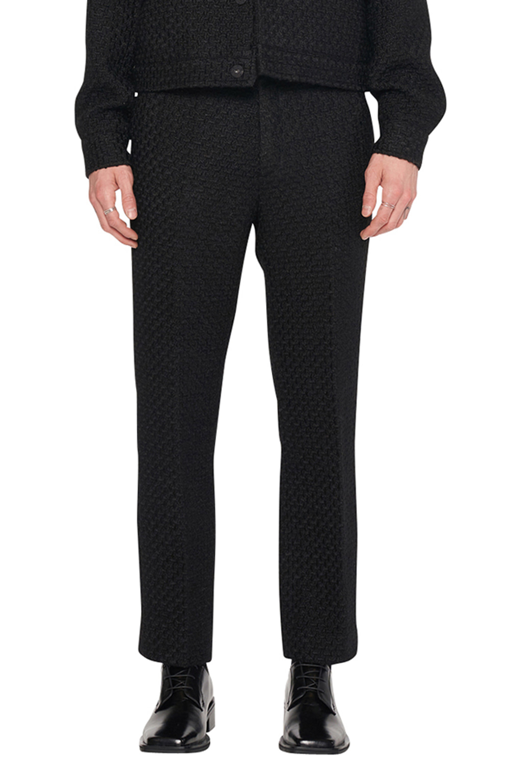 BLACK TWEED PANTS