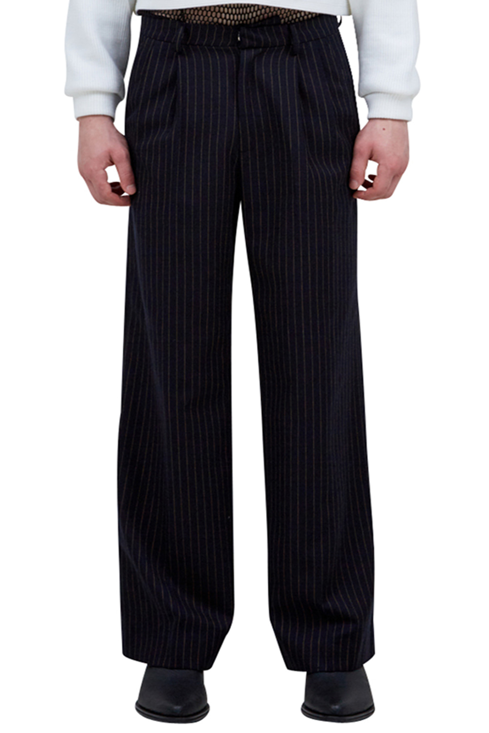 PINSTRIPE WIDE PANTS